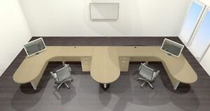 Two Persons Modern Executive Office Workstation Desk Set ch amb s50
