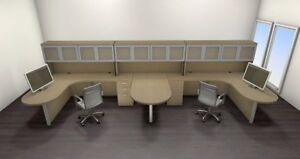 Two Persons Modern Executive Office Workstation Desk Set ch amb s60