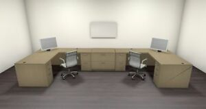 Two Persons Modern Executive Office Workstation Desk Set ch amb s70