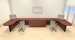 Two Persons Modern Executive Office Workstation Desk Set ch amb s71