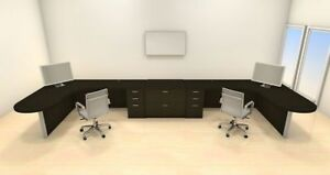 Two Persons Modern Executive Office Workstation Desk Set ch amb s73