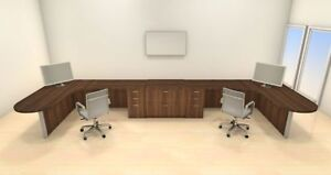 Two Persons Modern Executive Office Workstation Desk Set ch amb s74