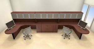 Two Persons Modern Executive Office Workstation Desk Set ch amb s76