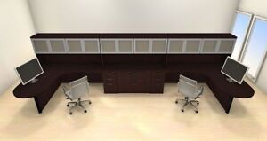 Two Persons Modern Executive Office Workstation Desk Set ch amb s77