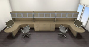 Two Persons Modern Executive Office Workstation Desk Set ch amb s80