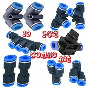 Utah Pneumatic 4mm Od Or 5 32 Push To Connect Fittings Pneumatic Fittings