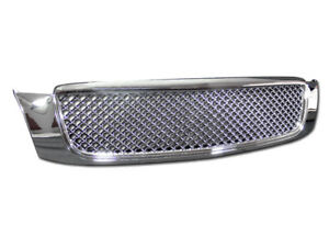 Gsp Chrome Bentley Mesh Front Hood Bumper Grill Grille Kit Replacement 00 05 Dev