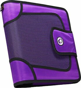 Case it Open Tab Velcro Closure 2 inch Binder With Tab File Purple S 816 pur