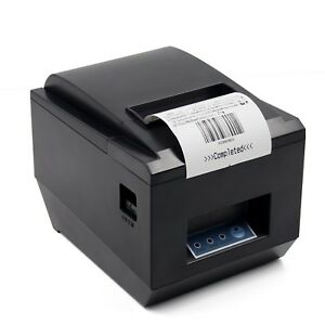 Pos Thermal Usb Square Receipt Printer Ethernet Lan Serial Port Auto Cu