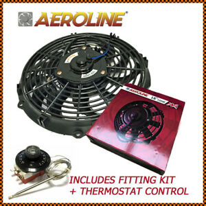 16 Aeroline Electric Radiator Cooling Fan Thermostat Mustang Chevy Dodge