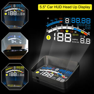 5 5 Car Obd2 Ii Hud Head Up Display Fuel Consumption Speed Warning System 12v