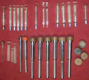 Lot Of Vintage Glass Syringes Stainless Pocket Sheaths Hospitaline Ace B d Yale