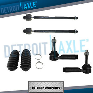 6pc Front Inner Outer Tie Rod Ford Taurus Flex Lincoln Mks Mkt 2010 2011 2012