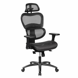 Techni Mobili Deluxe High Back Mesh Office Executive Chair With Neck Support Co