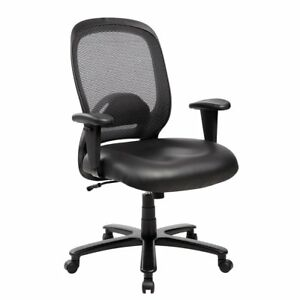 Techni Mobili 5006 Comfy Big Tall Black Office Chair Supports Up To 400 Lbs