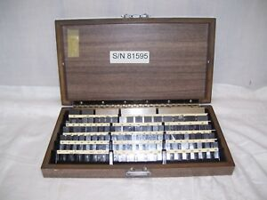 Gauge Block Set Starrett Webber 1001 4 000 81 Pcs 81595 Case With Key Gage