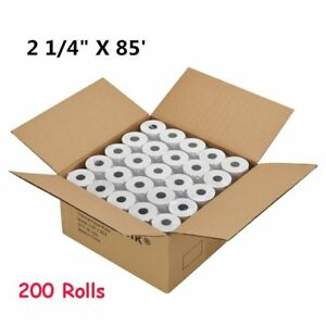 200 Rolls Case 2 1 4 X 85 Thermal Credit Card Cash Register Pos Receipt Paper