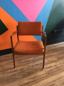 Pair Of Vintage Mid Century B L Marble Office Or Dining Arm Chairs