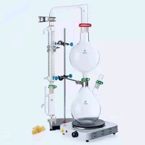 Lab Glass Essential Oil Steam Distiller Distillation Apparatus Distilling Kit