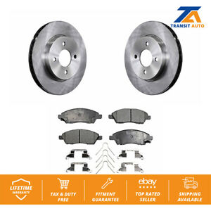 Front Disc Rotors Ceramic Brake Pads For Nissan Versa Note Micra