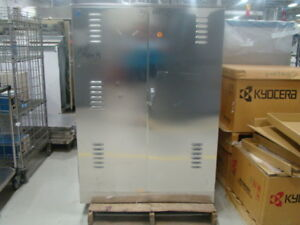 Idi Stainless Steel Chemical Cabinet 44 w X 40 d X 62 h Front rear Doors