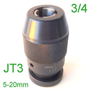 1 Pc Keyless 3 16 3 4 Drill Chuck Self Tighten With Jt3 3jt Mount For Cnc