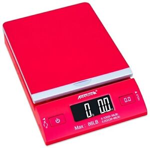Red 86 Lbs Digital Postal Scale Shipping Postage W Usb ac Adapter