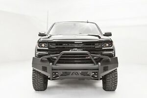 Fab Fours Black Steel Elite Half Ton Pre Runner Bumper For 16 18 Silverado 1500