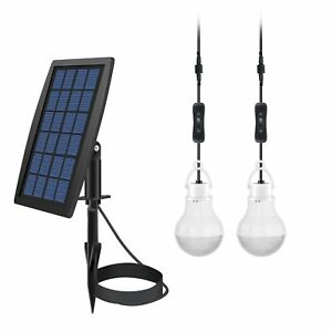 Solar Power Led Bulb Lamp Shed Light Barn Panel Sunlight Electricity Dusk Dawn