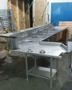 Stainless 3 Compartment Commercial Restaurant Sink 14