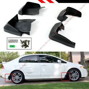 Front Rear Mud Flaps Splash Guard For 2006 11 8th Gen Honda Civic Fa 4dr Sedan