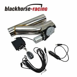 2 5 Electric Exhaust Downpipe Cutout E Cut Out Valve Controller Remote Kit New