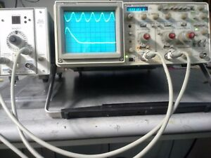 Tek 2236 Oscilloscope Counter Dmm Combo Works Great Brite Crt Probes Included