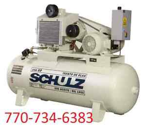 Schulz Air Compressor 15hp Oil Free 120 Gallon Tank 60 Cfm