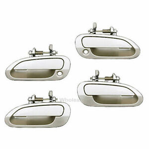 For 1998 2002 Honda Accord Outer Outside Door Handle Set 4pcs Beige Yr 508m Ds92