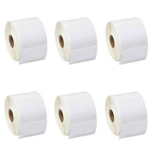 6 Rolls Of White Address Labels 1 1 4 X 2 1 4 For Dymo Labelwriter 30334