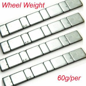 60g Aluminum Wheel Weights Stick-on Adhesive Tape For SCX10 110 RC Crawler