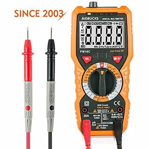 Multimeter Digital Ac Dc Voltage Current Tester Non Contact Backlight Lcd Gift