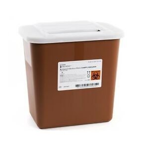 Lot Of 3 2 Gallon Multi Needle Disposal Sharps Container Lid Doctor Tattoo 047