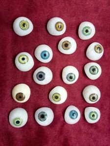 Antique Artificial Vintage Eyes Set Of 25 X limitied Quantity Mix Colours