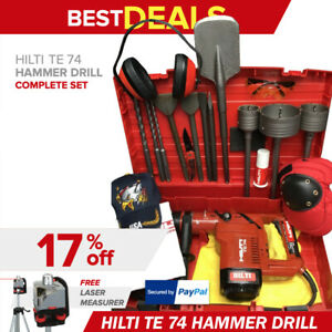 Hilti Te 74 Hammer Drill Preowned Free Rotary Laser bits extras Quick Ship