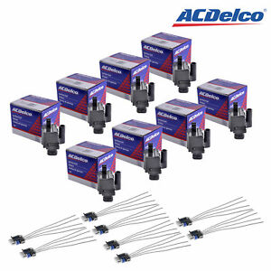 Set Of 8 Acdelco Ignition Coils D581 8 Coil Pigtail Wiring Connector