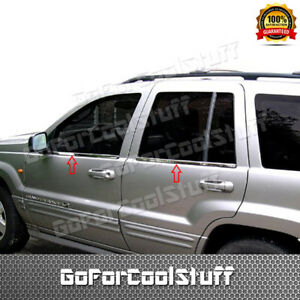 For 1999 01 02 03 2004 Jeep Grand Cherokee 4pc Stainless Steel Window Sill