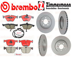 Bmw 750 750li 760i 760li Front Rear Brake Kit Rotors Pads Brembo Zimmermann