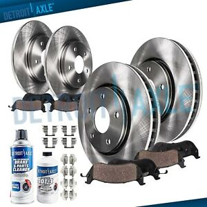 Front 286mm Rear Brake Rotors Pads 1995 2001 Ford Explorer Mountaineer 4wd
