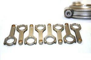 Chevy Sbc 350 6 200 Forged 4340 H beam Connecting Rod W arp 8740 Bolts
