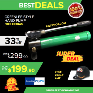 Greenlee 767 Hydraulic Style Hand Pump New Free Hat Quick Shipping