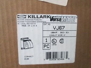 Vj67 Killark 2in Back Box