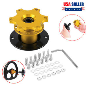 New Universal Car Steering Wheel Quick Release Hub Adapter Snap Off Boss Kit