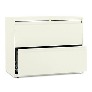 Hon 800 Series Two drawer Lateral File 36w X 19 1 4d X 28 3 8h Putty 882ll
